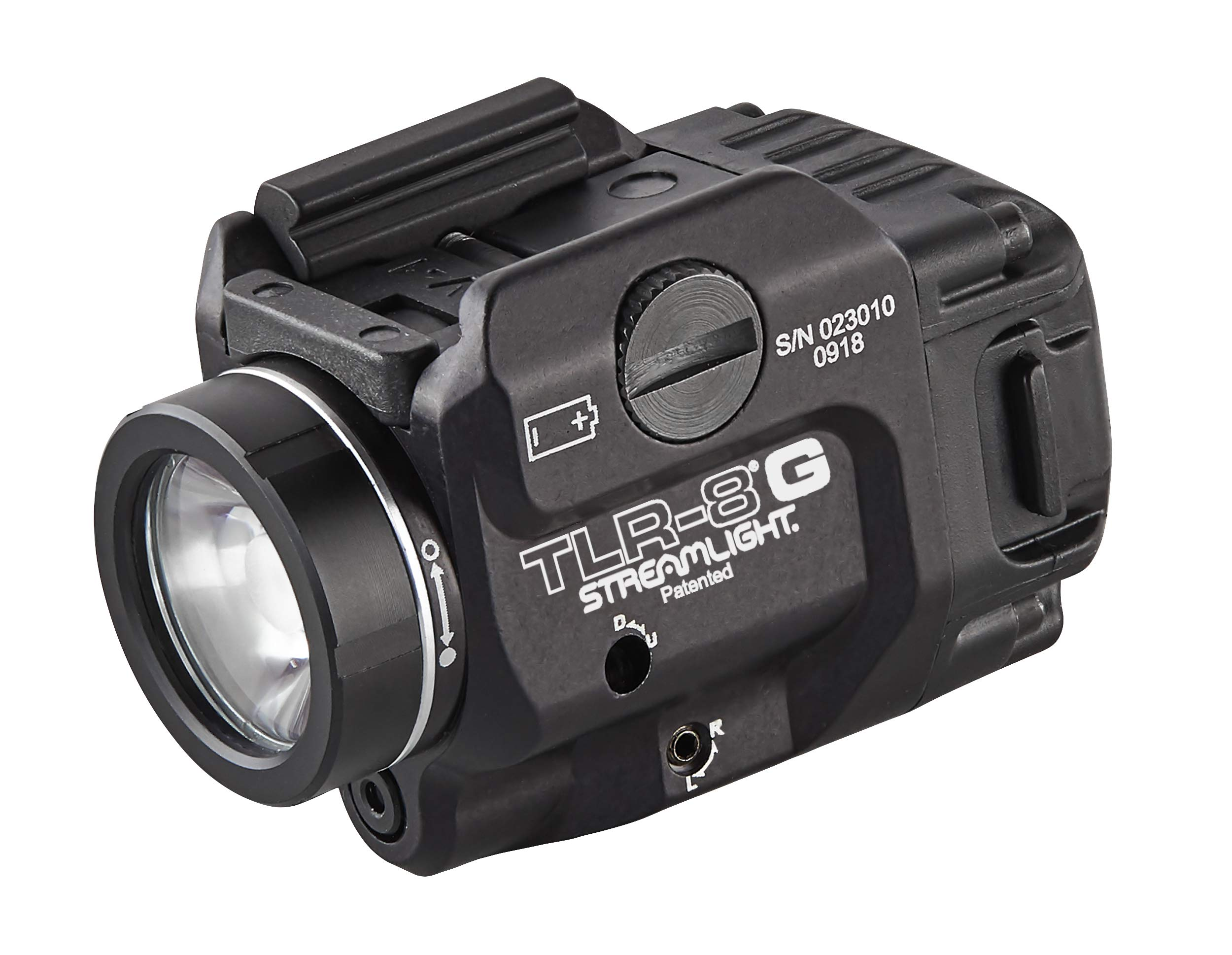 Streamlight 69430 TLR-8G with Rail Locating Keys & CR123A Lithium Battery - 500 Lumens by Streamlight