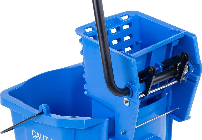 Mop Bucket,Side Press Wringer,26qt,Blue CARLISLE 3690814