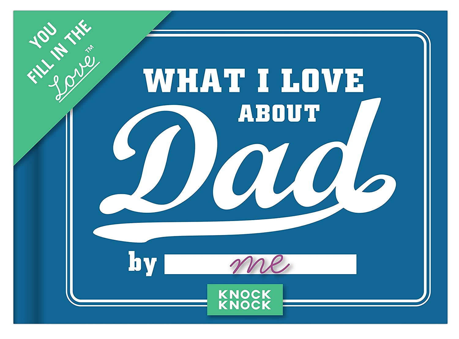 what i love about dad journal from kids gift idea