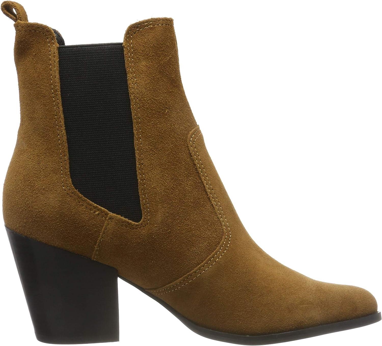 Steve Madden Patricia Bootie, Chelsea Boots Femme Marron Chestnut Suede 839