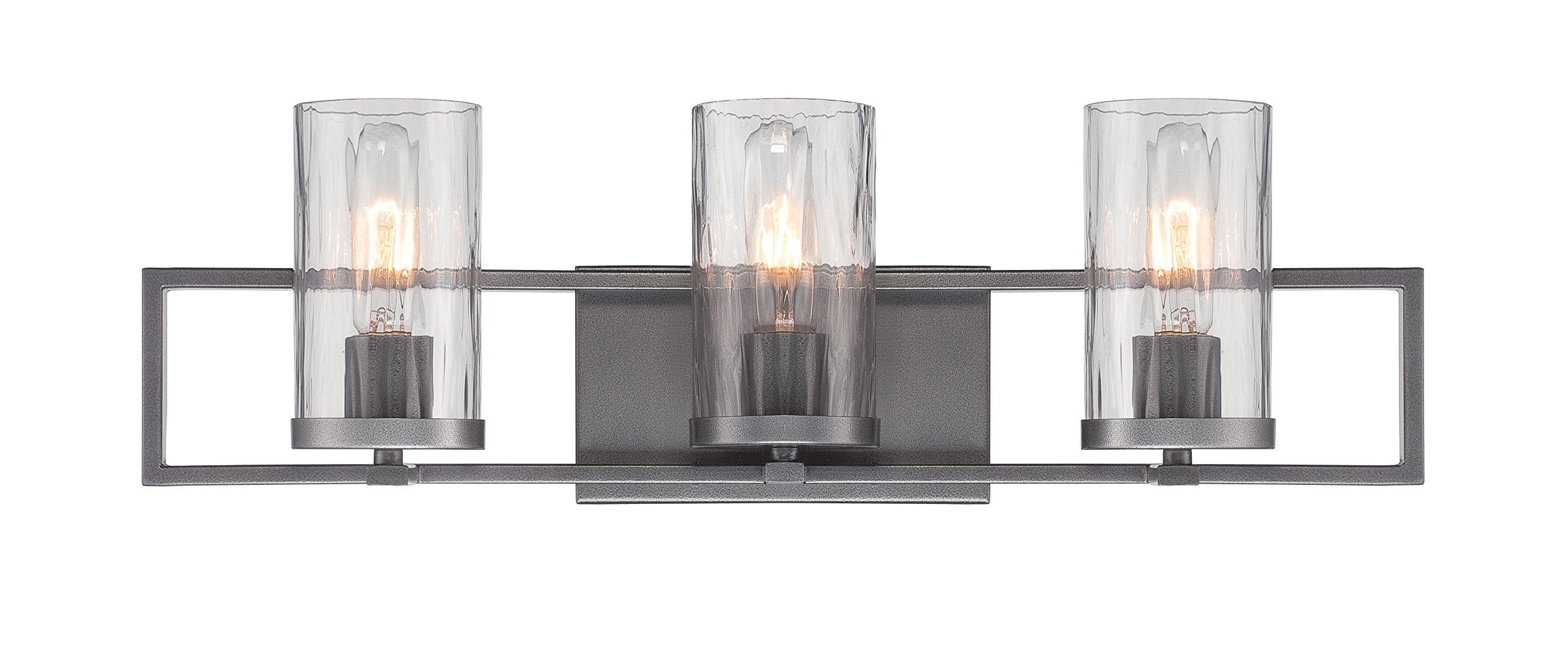 Designers Fountain 86503-CHA Elements 3 Light Bath Bar by Designers Fountain