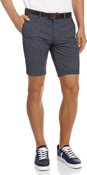 oodji Ultra Hombre Elegante Pantalón Corto Bermudas Estampadas ...