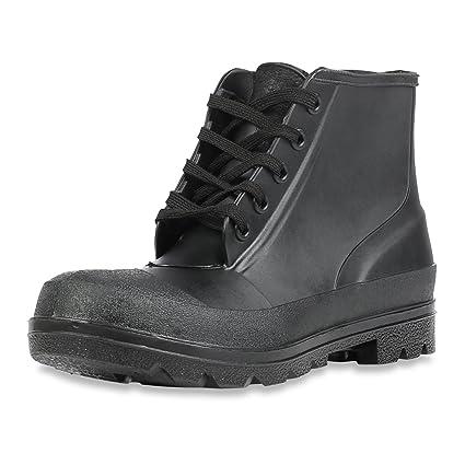 Honeywell seguridad 73104 – 12 Servus hierro Duke Polyblend PVC 5-eyelet zapatos de seguridad