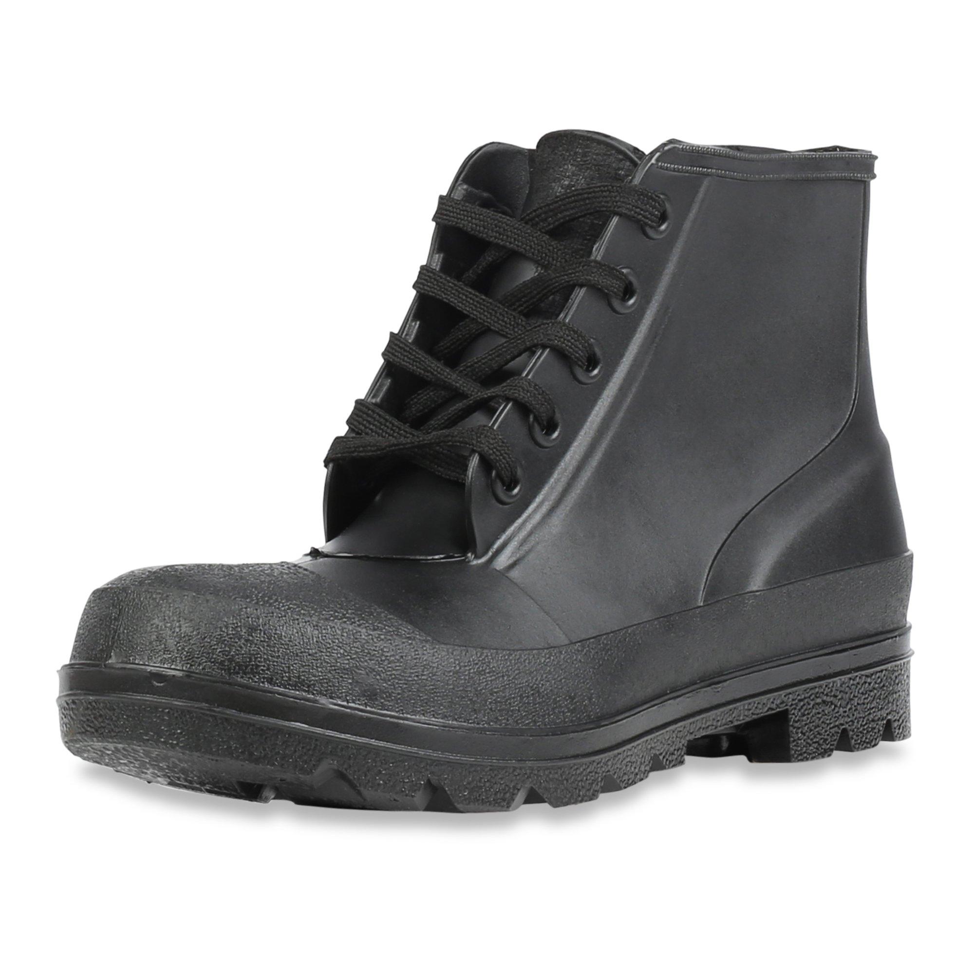 Servus Iron Duke 6'' PVC Polyblend Steel Toe Men's Work Shoes, Black (73104) by Honeywell