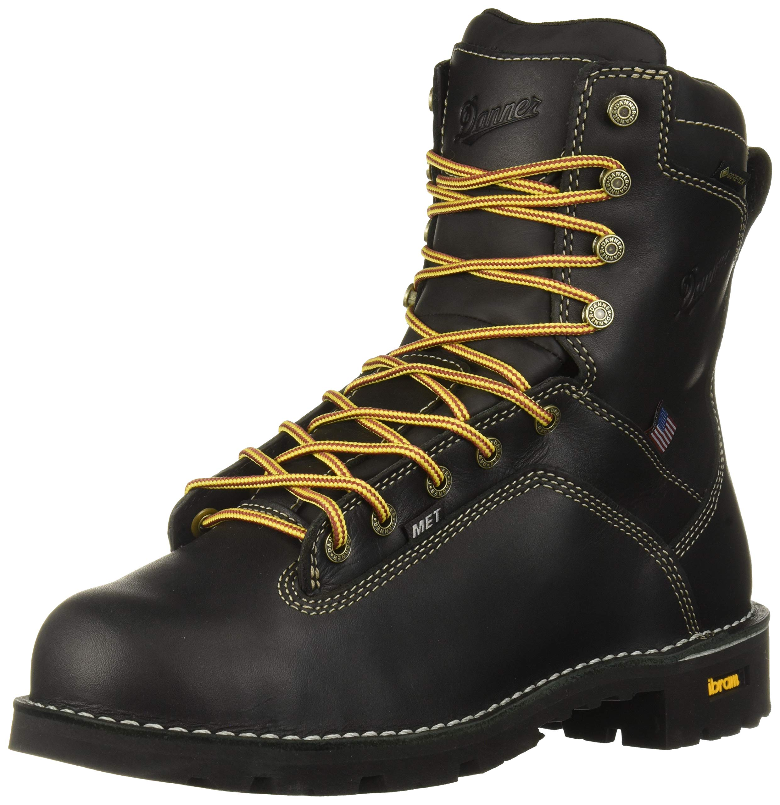 Danner Men's Quarry USA 8'' Construction Boot, Black, 13 2E US by Danner