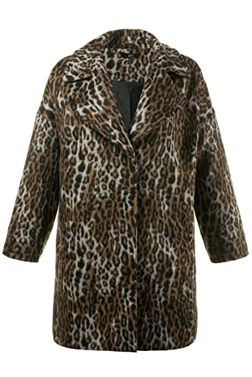 b9c77c4860442 Ulla Popken Women s Plus Size Leopard Print Long Coat 712215  Ulla Popken   Amazon.co.uk  Clothing