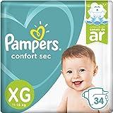 Fralda Pampers Confort Sec 34 Unidades, XG