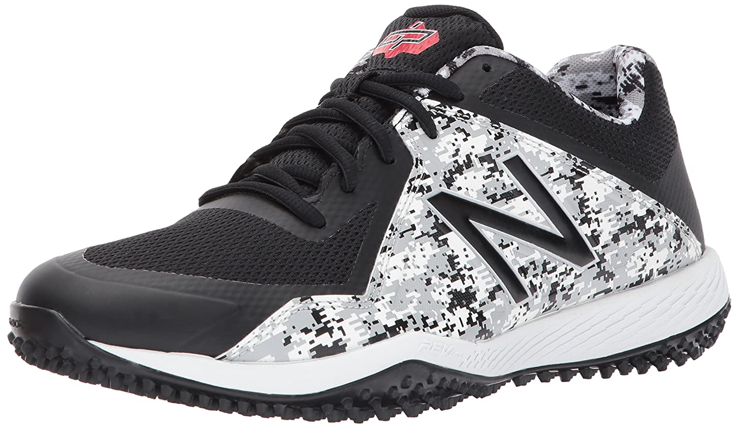 New Balance Men's T4040v4 Turf Baseball Shoe B01MQLSBJ7 8 2E US|Black Camo