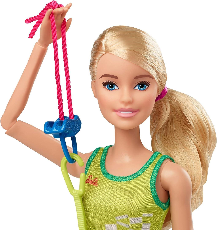 Barbie- Juegos Olímpicos Tokio 2020 muñeca escaladora con uniforme y con accesorios (Mattel GJL75) , color/modelo surtido