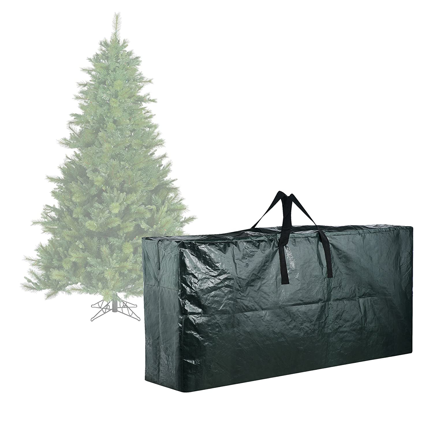 amazoncom elf stor premium green christmas tree bag holiday extra large for up to 9 tree storage home kitchen - Large Christmas Tree
