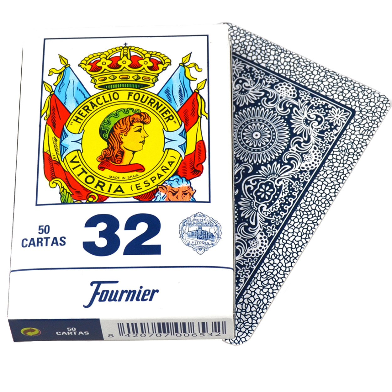 Naipes Fournier Deck of 50 Fournier Spanish Playing Cards Catalan Face #32 - Baraja Española Catalana