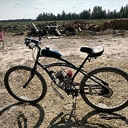 Amazon Com 2 Stroke 66cc 80cc Motorized Bike Kit With 26 Cruiser Bike Diy Motor Bike System Automotive