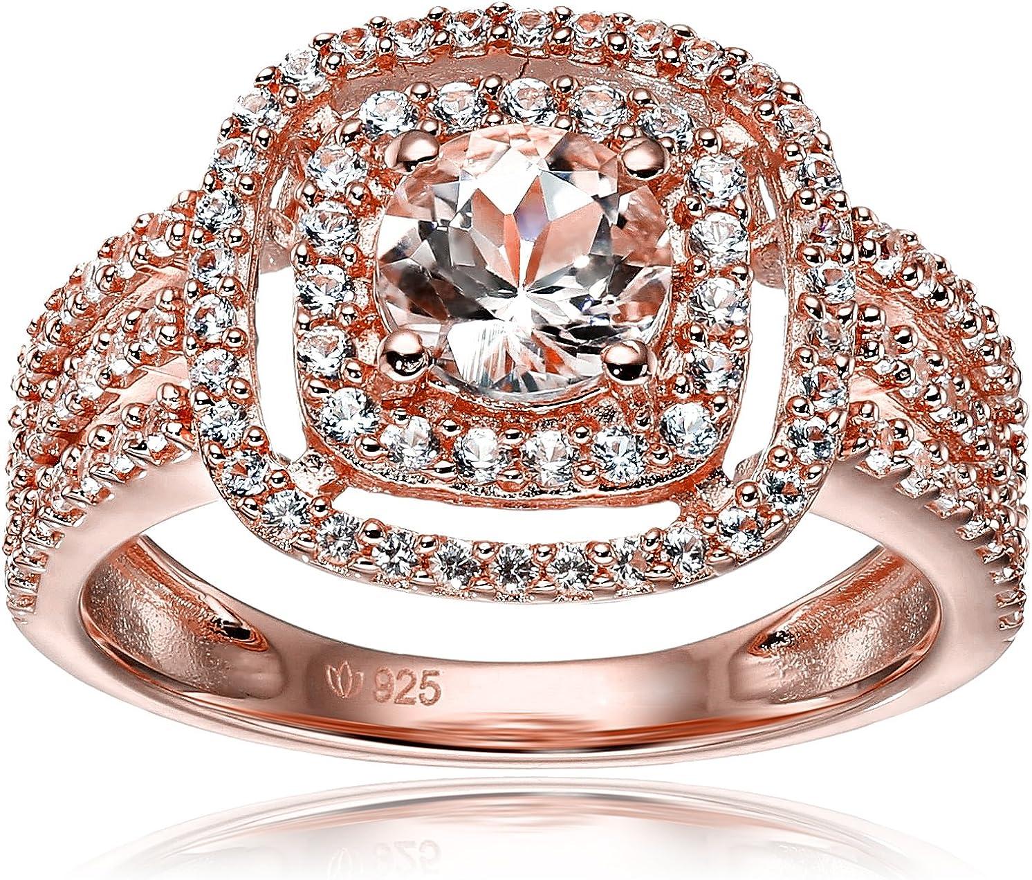 Valentine/'s Jewelry London Blue Topaz Gems Vintage silver Double Ring SZ 6-10