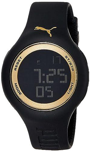 Reloj Cuarzo PUMA Time para Hombre con Negro Digital Y Negro Silicona PU910801044
