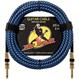 RIG NINJA 1/4 GUITAR CABLE for Serious Musicians, Quality Electric Guitar Cords for a Clean Awesome Tone to the Amp, Solid & Durable Instrument Cables that Look Great, Low Noise Cord