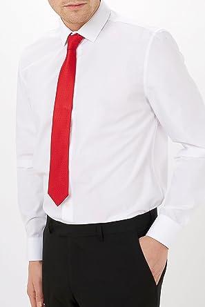 next Hombre Camisa con Juego De Corbata Y Pañuelo De Bolsillo ...