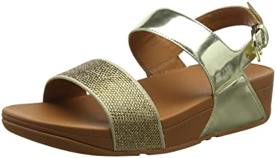05bd65b1f74c6e FitFlop Womens Ritzy Back-Strap Studded Slingback Sandals Gold 6 Medium (B
