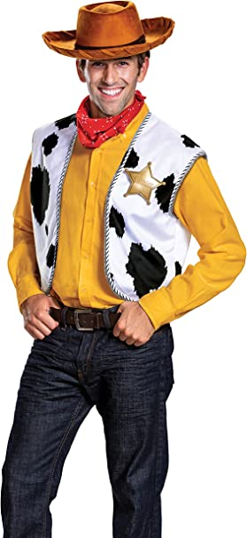 Disguise Mens Woody Deluxe Adult Costume Kit: Amazon.es: Ropa y ...