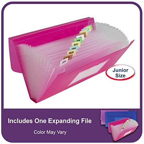 Amazon.com : C-Line 13-Pocket Poly Expanding File, 10 x 5 Inches ...