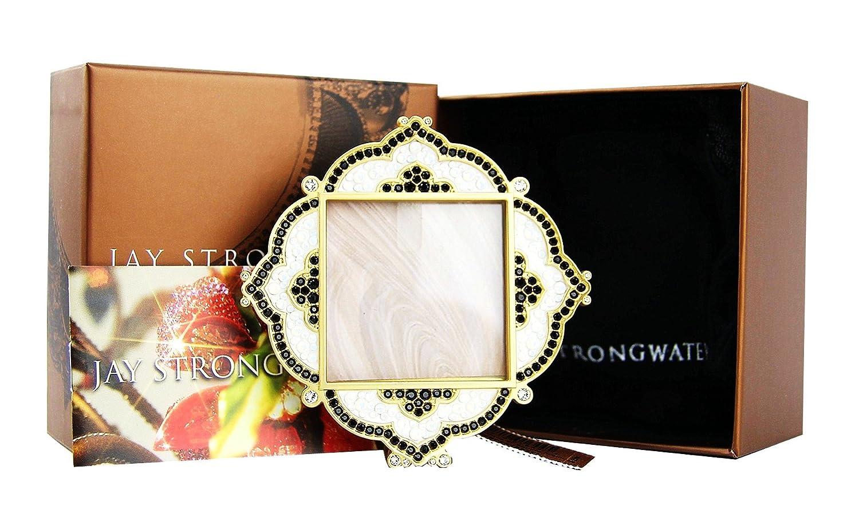 Jay strongwater Calla Diamant Pavé Quadratischer Rahmen: Amazon.de ...