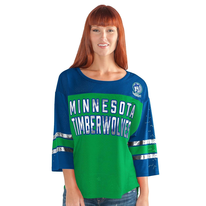 最初チームメッシュトップ B008SRPY3A XL|グリーン/ブルー|Minnesota Timberwolves グリーン/ブルー XL