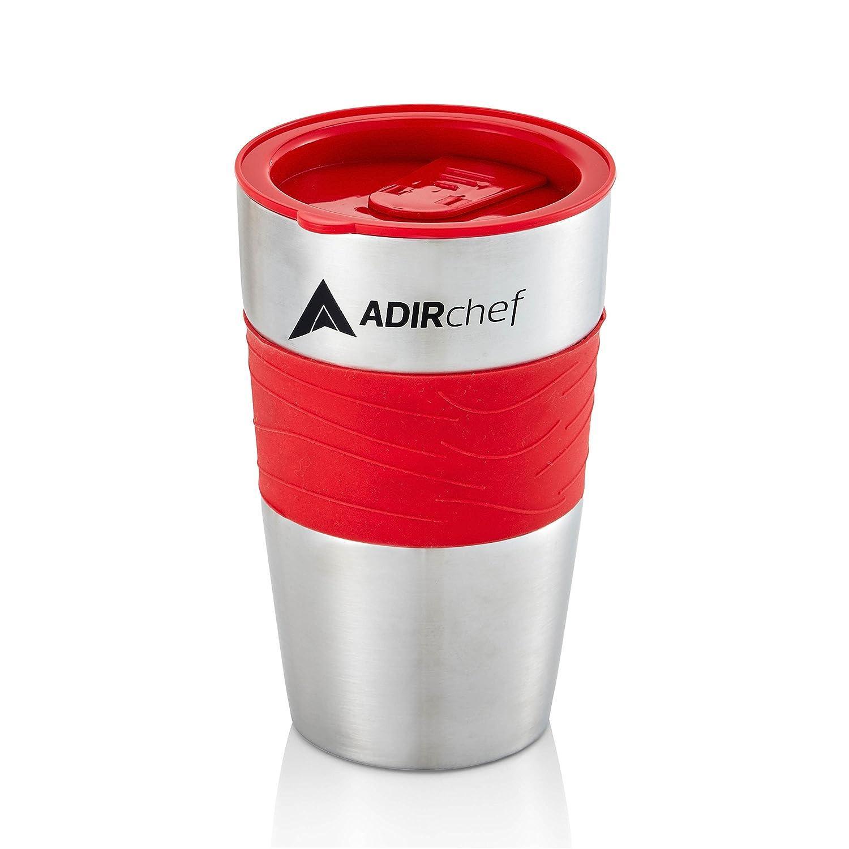 AdirChef 15 oz. Travel Mug, Black/Stainless Steel For Grab N' Go Personal Coffee Maker 800-01-MUG