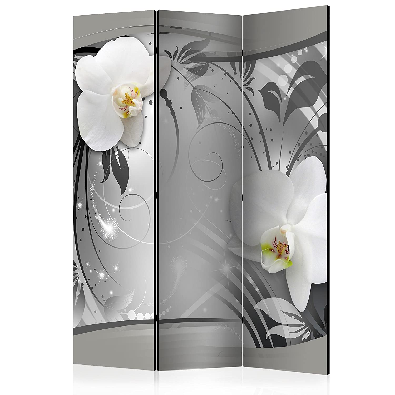 murando Raumteiler /& Pinnwand Foto Paravent Abstrakt 135x172 cm beidseitig auf Vlies-Leinwand Bedruckt Trennwand Spanische Wand Sichtschutz Raumtrenner Blumen Orchidee b-A-0078-z-b