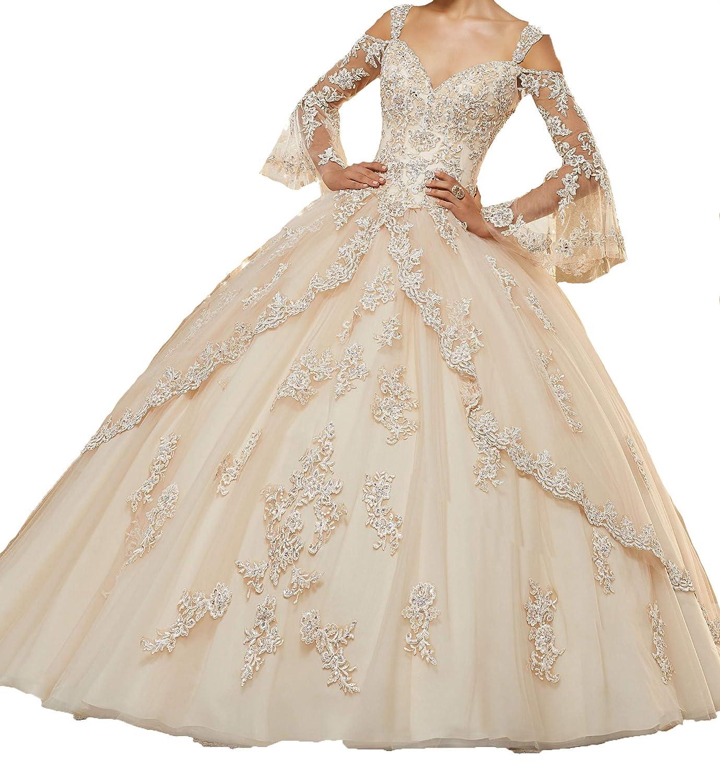 Beige Yang Sweetheart Girls Lace Ball Gowns Women Appliques Quinceanera Dress