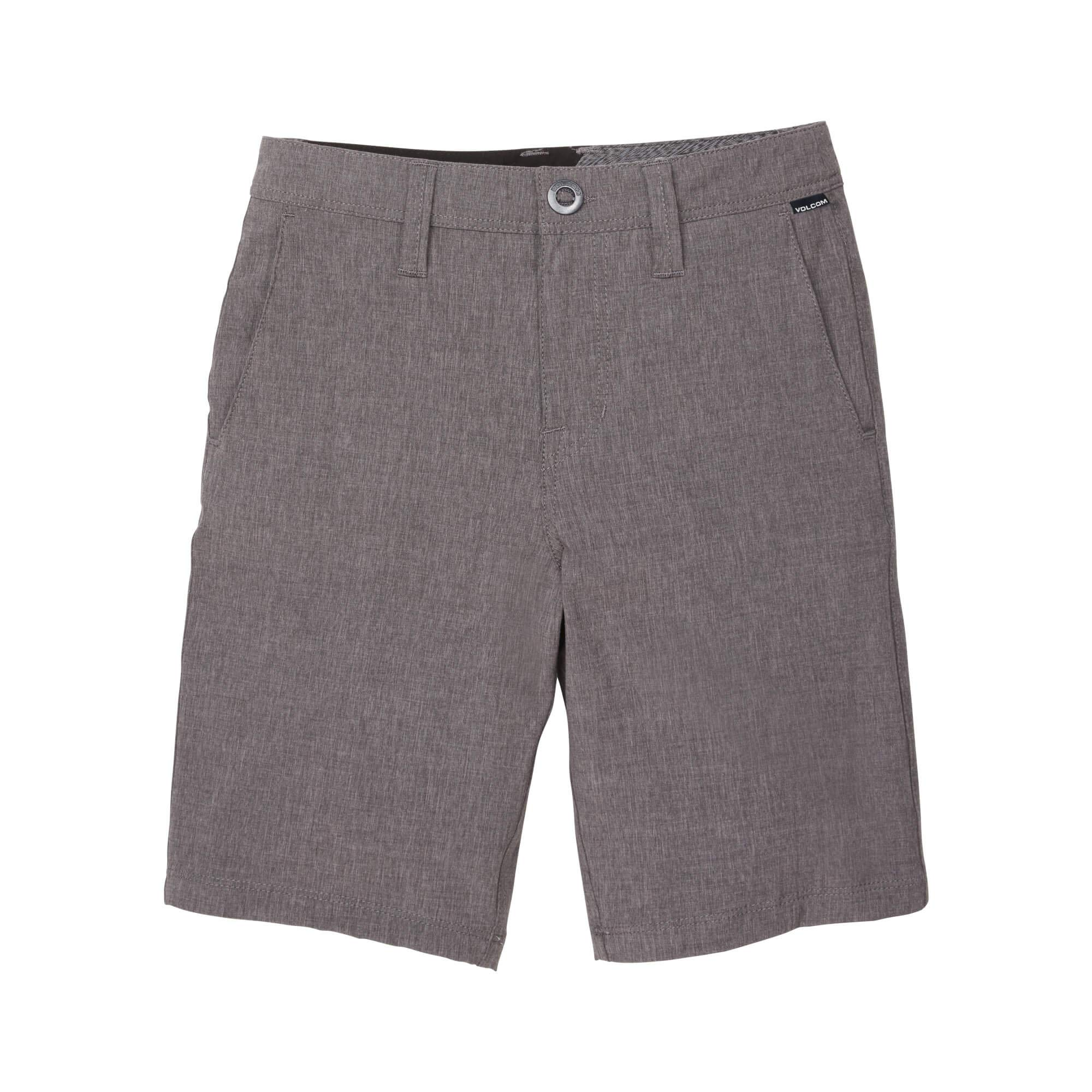 Volcom Big Boys Frickin SNT Static 18'' Hybrid Short, Charcoal Heather, 25