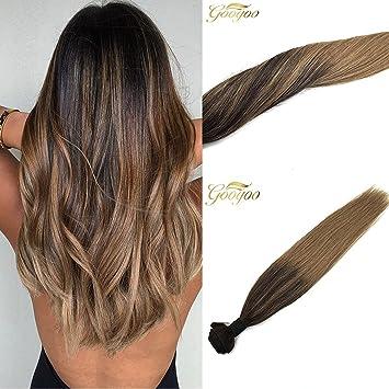 Amazon Com Googoo 100 Brazilian Human Weave Weft Subtle Ombre