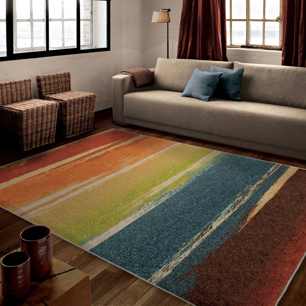 Orian Rugs Striped Magnificent Multi Area Rug (5'3 x 7'6) 325492
