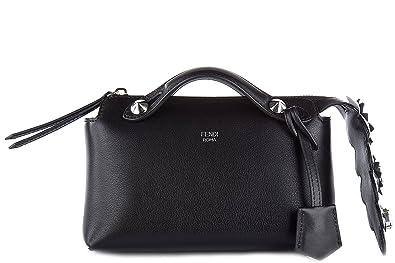 Fendi sac à main femme en cuir by the way mini noir  Amazon.fr ... c6287cde6f6