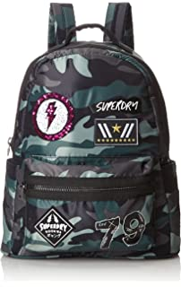 Damen Midibackpack Rucksack, Mehrfarbig (Tiger Navy Patch), 36x37x14 centimeters Superdry