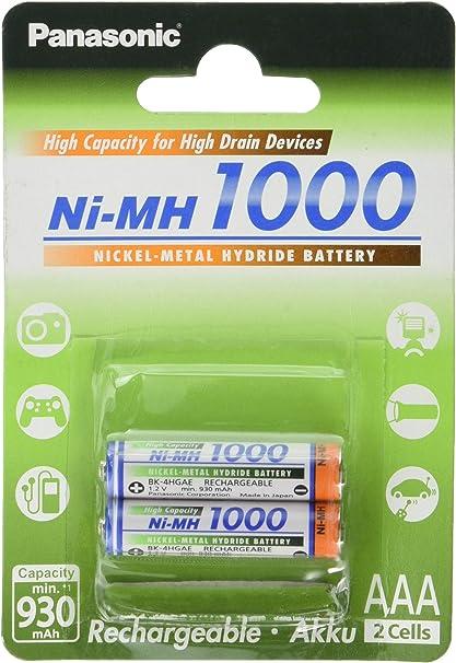 Panasonic High Capacity Akku Ni Mh 1000 Aaa Micro Elektronik