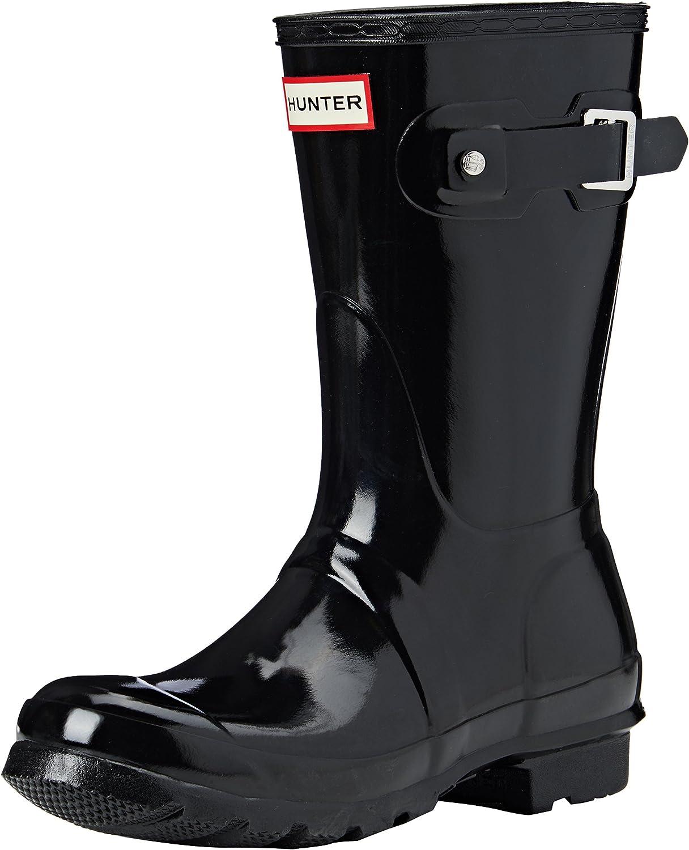   HUNTER Women's Original Short Gloss Snow Boot   Rain Footwear