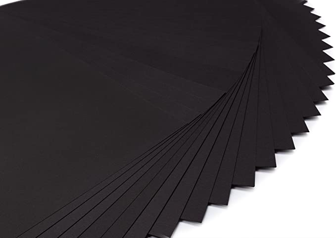 perfect ideaz 50 papel de color negro homogéneo en formato A3, con ...