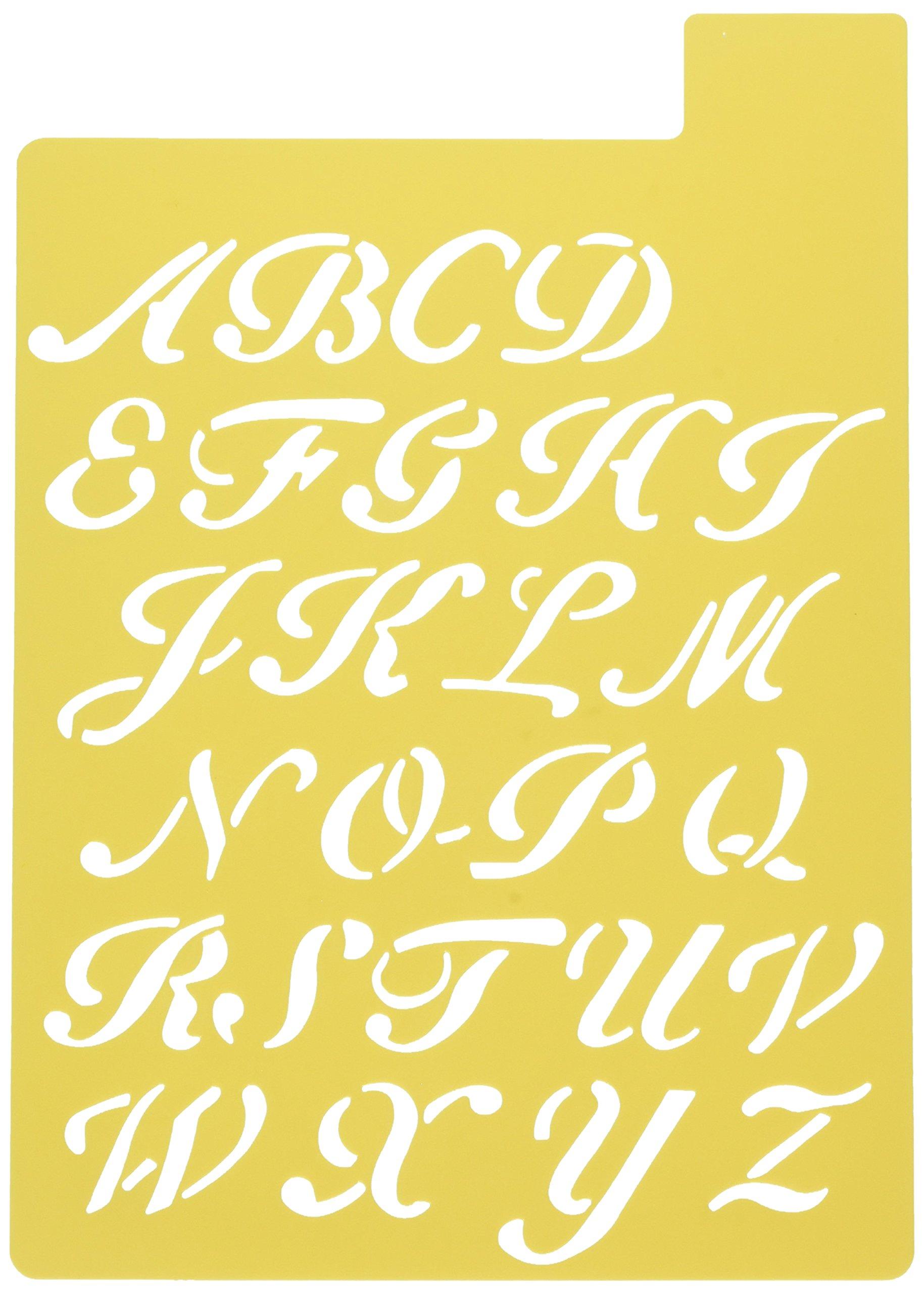 Darice 121725 Upper Case Alphabet Stencil, 3 Fonts in 1, 1-Inch by Darice (Image #3)