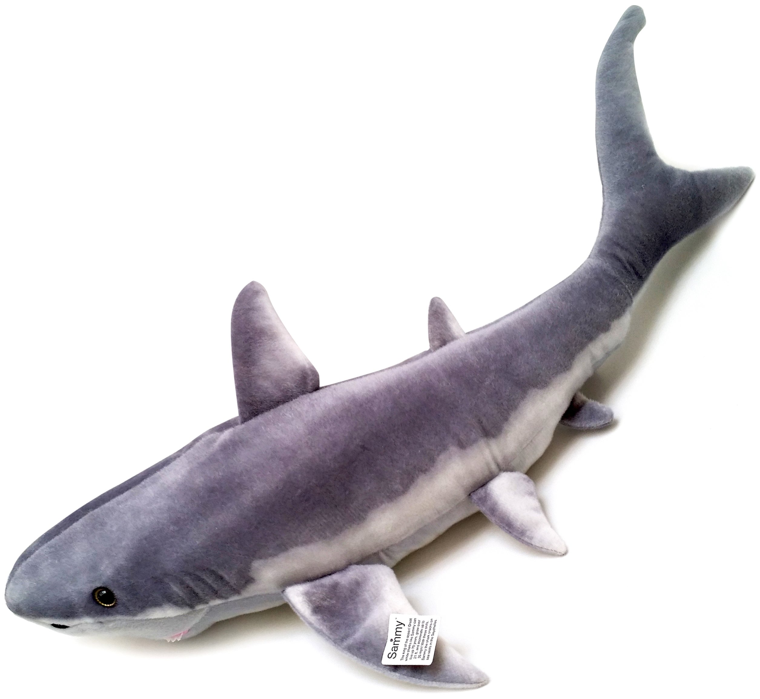 Viahart 37 Large Great White Shark Stuffed Animal Plush Sammy The