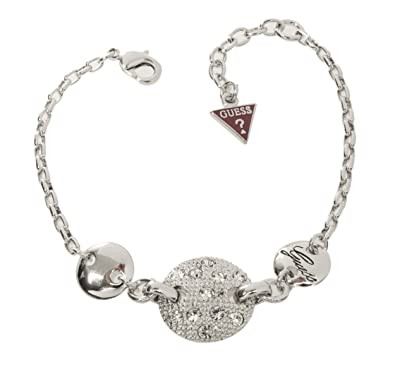 b1cbb63d158d Guess - UBB71278 - Bracelet Femme - Métal argenté - Strass - 18 cm ...
