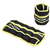 Gold Coast Adjustable Ankle and Wrist Weights with Adjustable Strap - Resistance Strength Training