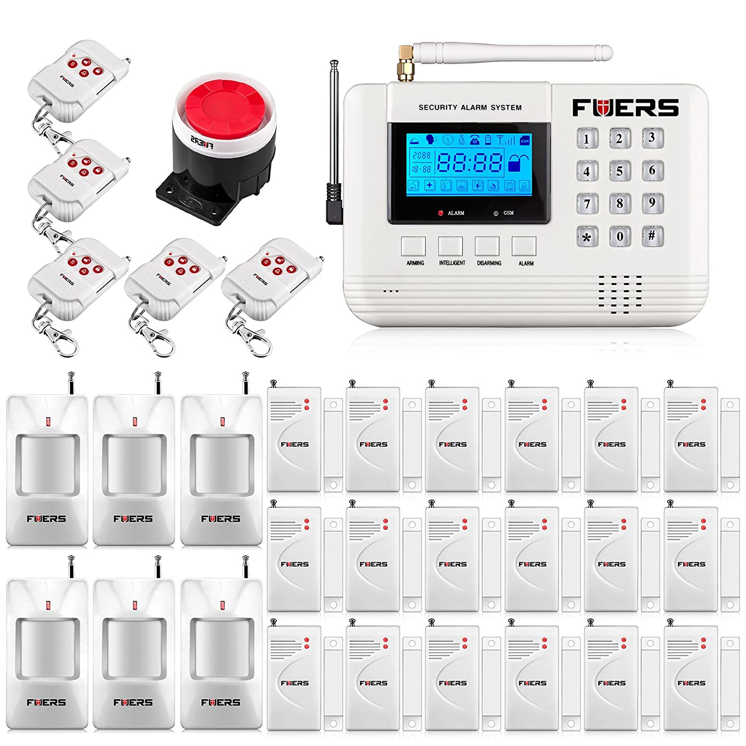 Fuers 433mhz F-Q2 GSM PSTN SMS Home Burglar Alarm System