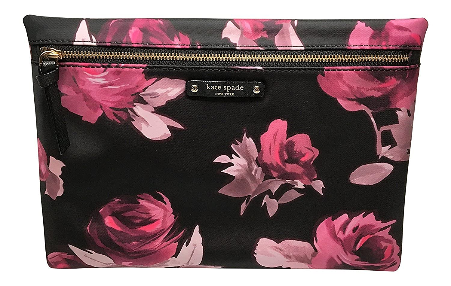 47061b8853 Amazon.com  Kate Spade Large Drewe Wilson Road Rose Symphony Pouch    Clutch  Clothing