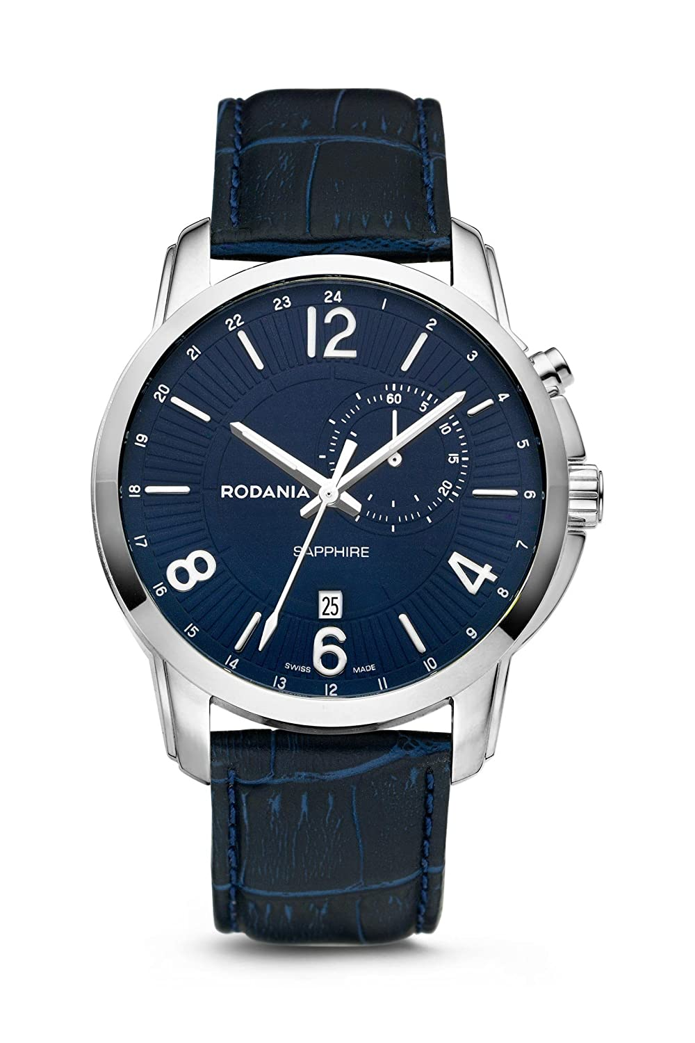 RODANIA - Travel Herrenuhr - blau Ø 44 mm