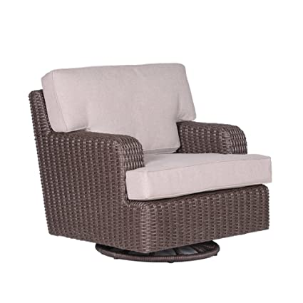 Fantastic Amazon Com Patio Milos Wicker Club Swivel Outdoor Chairs Onthecornerstone Fun Painted Chair Ideas Images Onthecornerstoneorg
