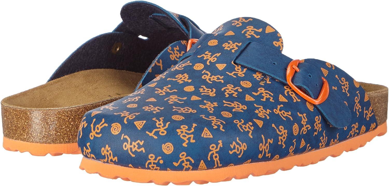 Baskets Basses Gar/çon 34 EU Bleu Lico Bioline Clog Kids Blau//Orange Blau//Orange