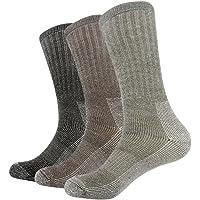 Vihir Merino sokken heren - lange buis Merino sportsokken voor skiën, trekking, wandelen, 3 paar
