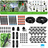 MIXC 226FT Greenhouse Micro Drip Irrigation Kit Automatic Patio Misting Plant Watering System with 1/4 inch 1/2 inch Blank Di