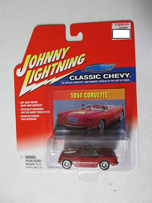 amazon johnny lightning classic chevy 1954 corvette 1 64 red 1954 Corvette Blue johnny lightning classic chevy 1954 corvette 1 64 red