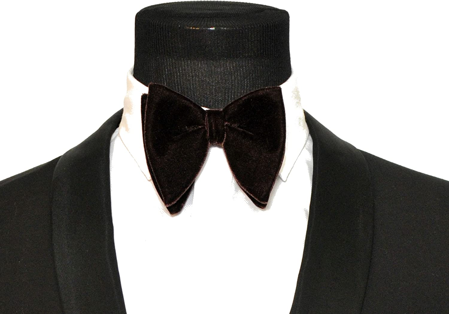 Mens FERUCCI Oversized Bow Tie Tuxedo Black Velvet Bowtie Mens big bow tie
