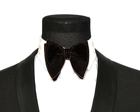 ee09eee2e147e Mens FERUCCI Oversized Bow Tie - Tuxedo Brown Velvet Bowtie, Mens big bow  tie (